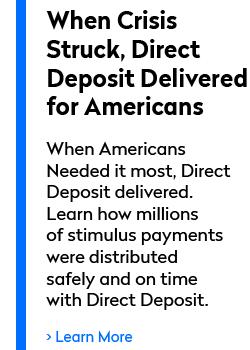 Direct Deposit Delivers